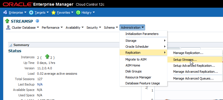 2016-01-14 11_02_49-STREAMSP (Cluster Database) - Oracle Enterprise Manager